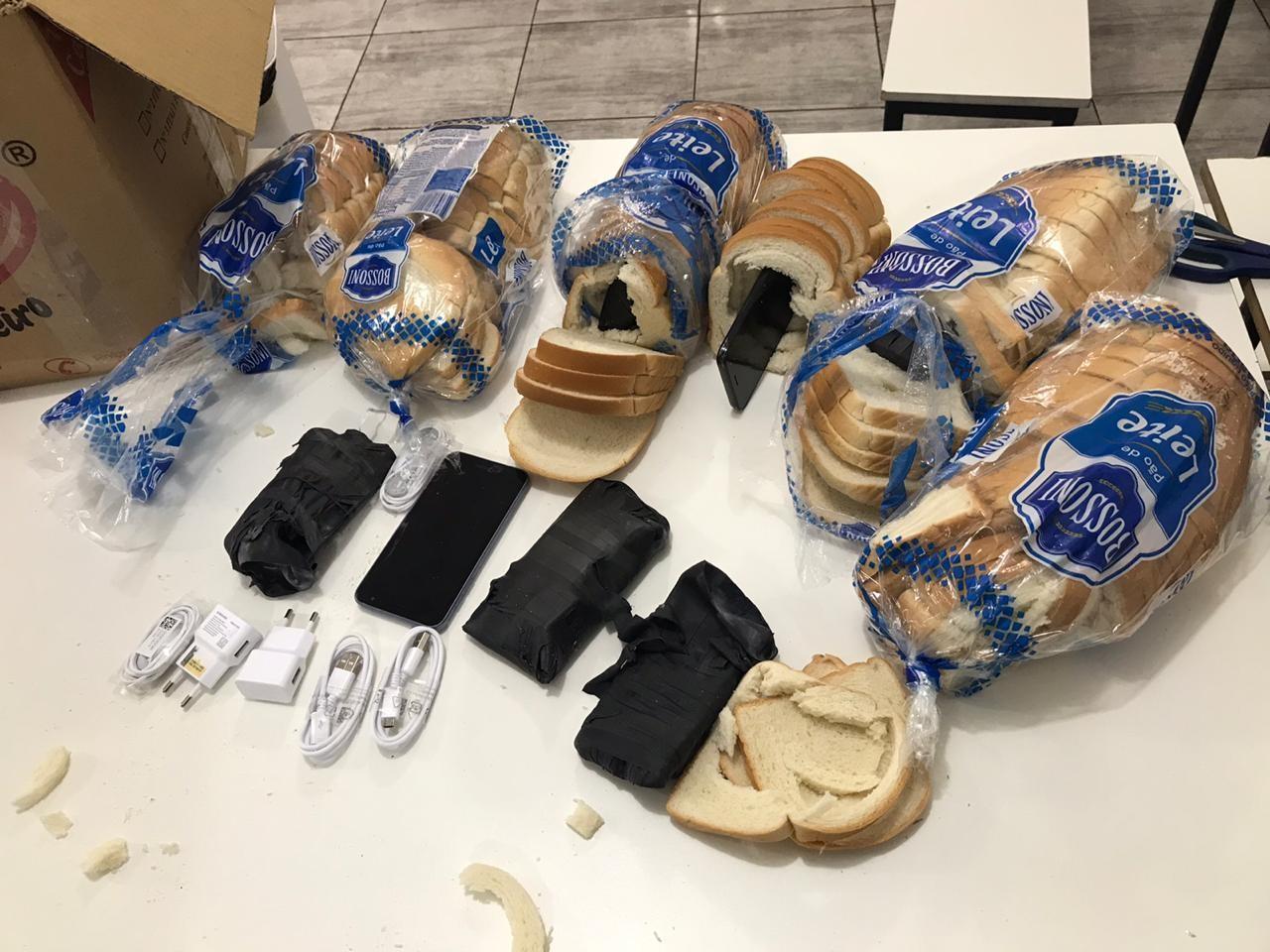 Depen apreende celulares no meio do pão, na PEC