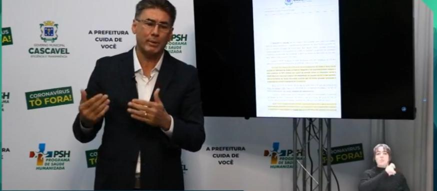 Prefeito de Cascavel diz que Estado não tem ingerência sobre município