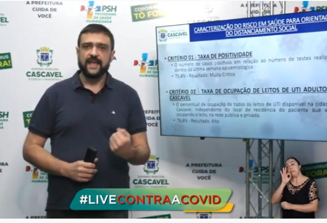 Secretário de Saúde fala sobre avanço do Covid-19 em Cascavel e novo decreto