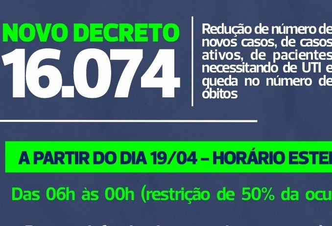 Novo decreto flexibiliza e amplia horário do comércio em Cascavel
