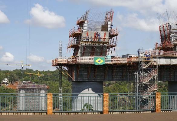 Construção da Ponte da Integração já atingiu 45%