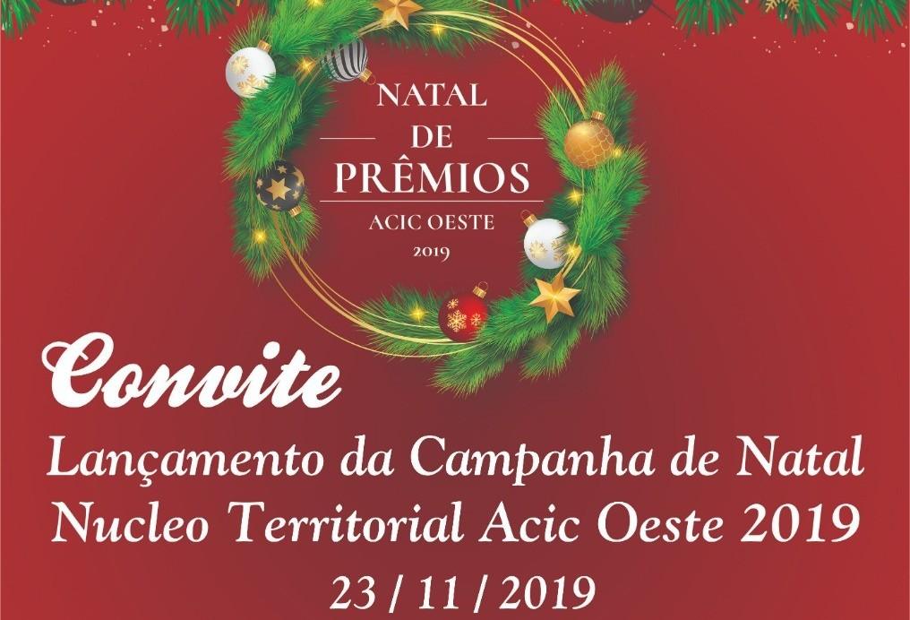 ACIC Território Oeste lança campanha de Natal 2019