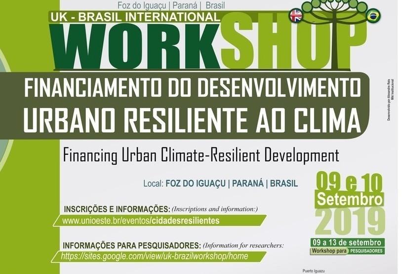 Instituições vão promover workshop sobre resiliência climática urbana
