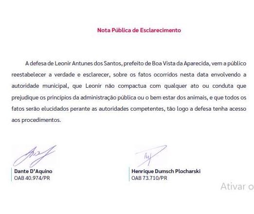 Advogados de  defesa do prefeito de Boa Vista se manifestam