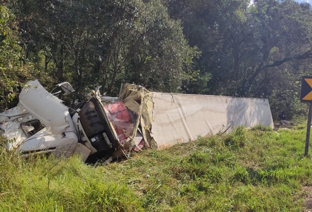 Caminhão carregado com frango é saqueado na BR-277