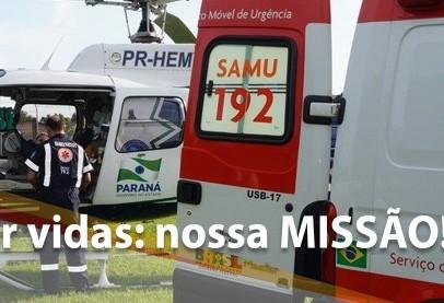 Vítima de queimadura é encaminhado para hospital de Londrina