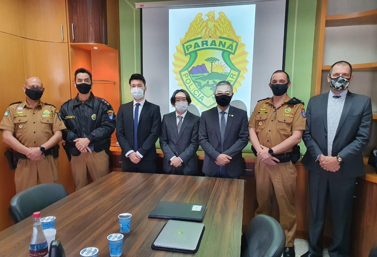 Deputado recebe comitiva Japonesa para apresentar tecnologia única para Segurança Pública