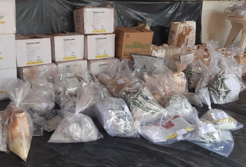 Mais de 6 ton de agrotóxicos contrabandeados são apreendidos em operação