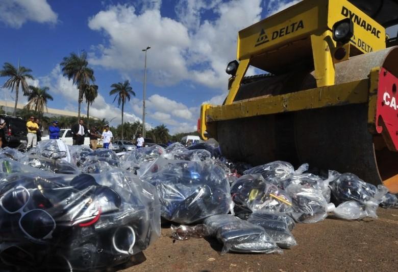 Receita Federal fez a destruição de 3,2 mil toneladas de mercadorias