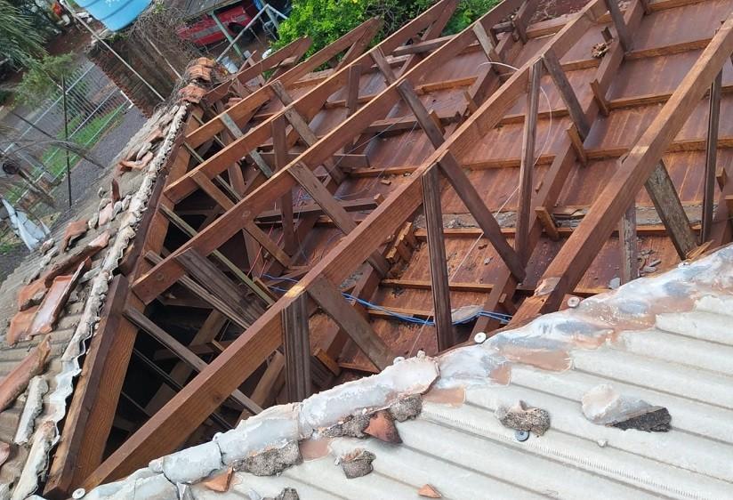Chuva e ventos fortes mobilizam a Defesa Civil em Cascavel