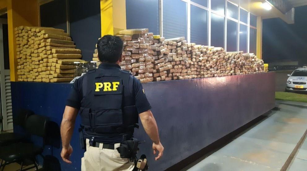 PRF bate recorde em apreensão de drogas