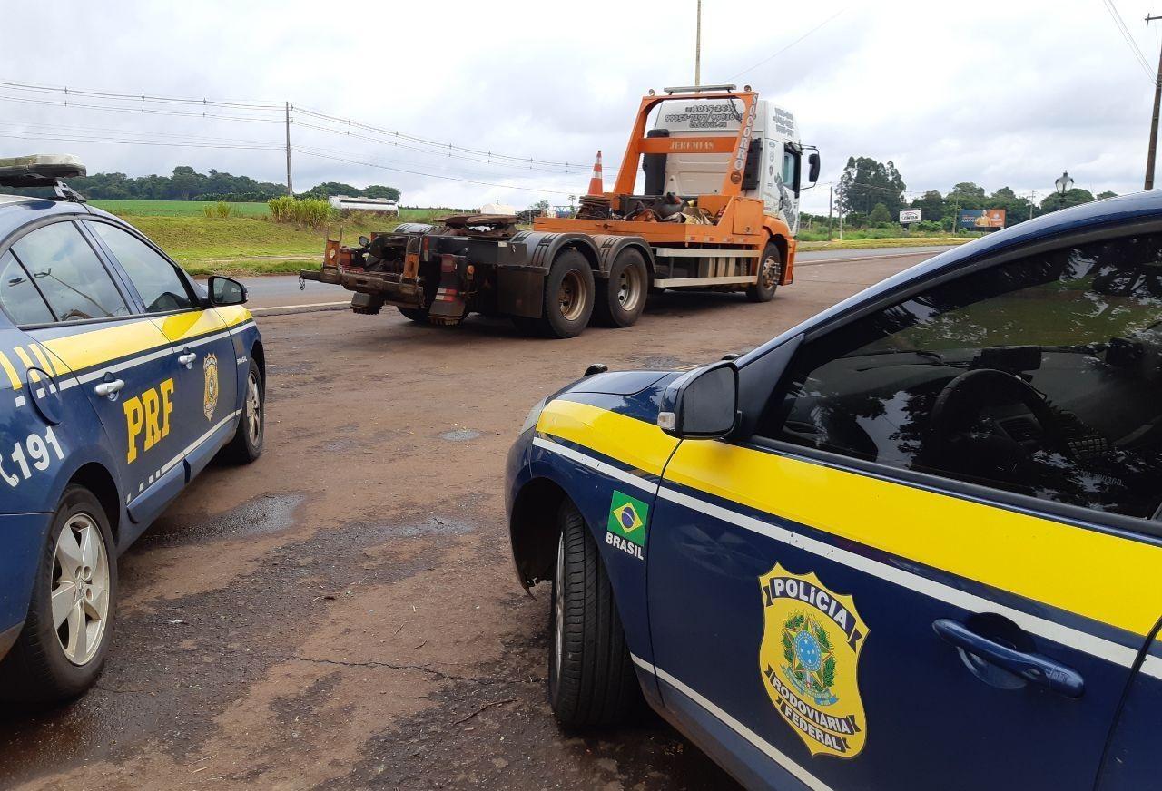 PRF prende acusado de sequestro e roubo de guincho, e recupera veículo