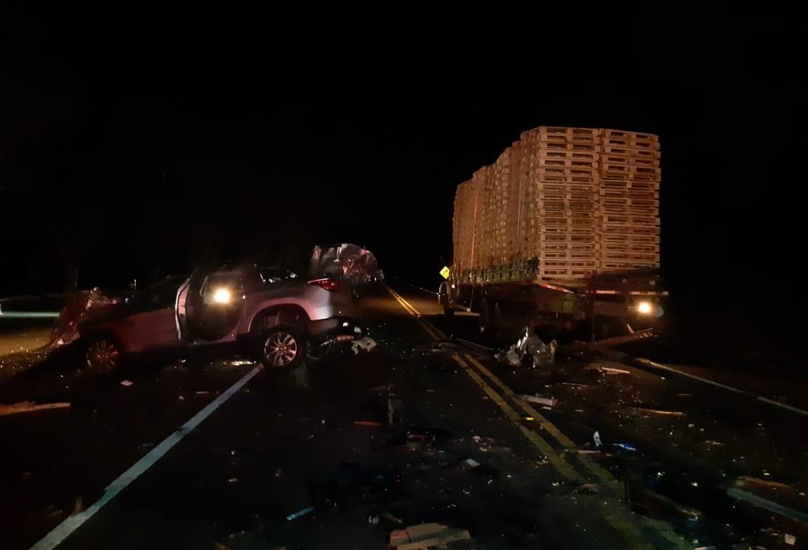 Polícia Rodoviária Federal atende grave acidente na BR 369 em Corbélia