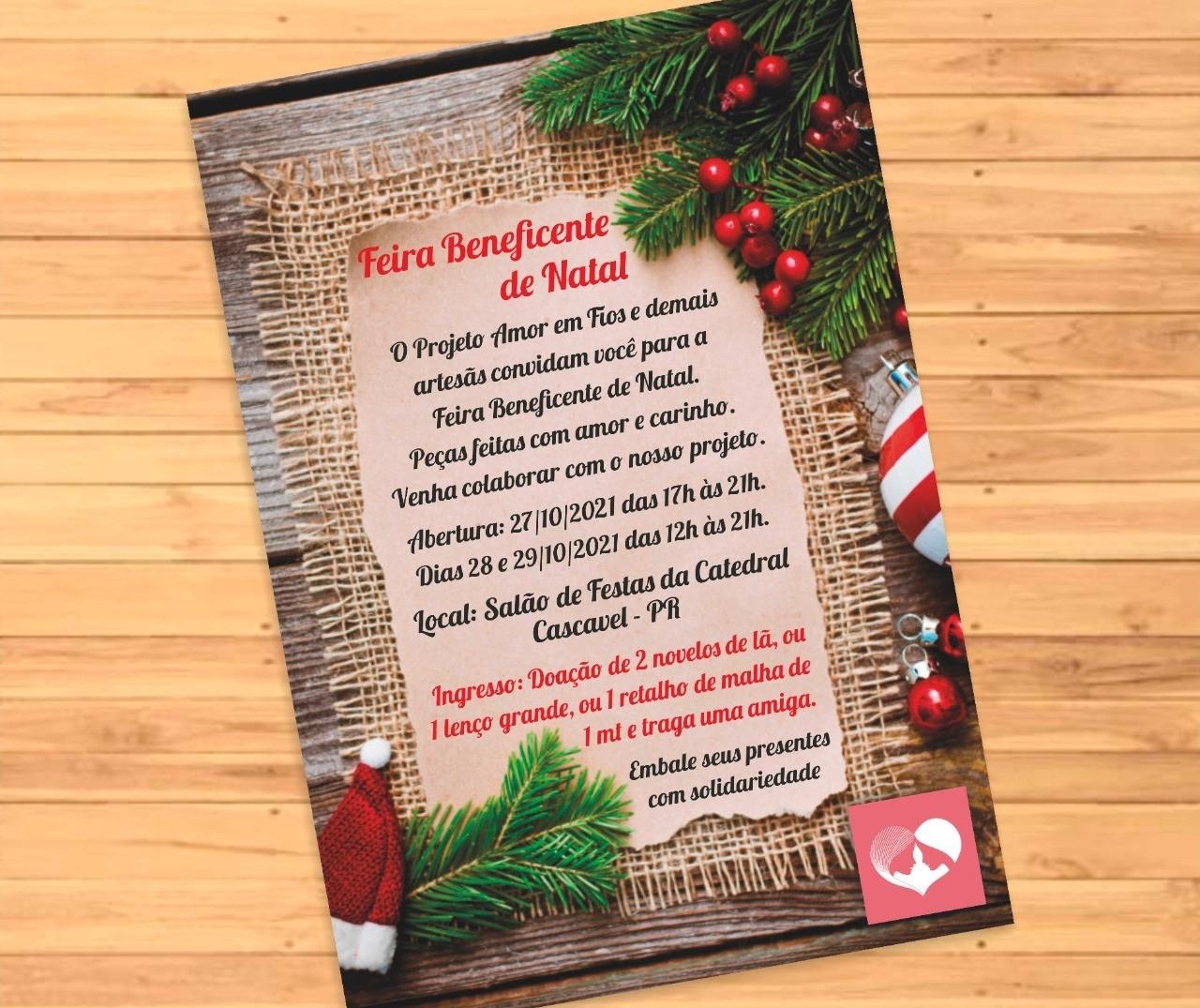 Projeto Amor em Fios promove Feira Beneficente de Natal em Cascavel