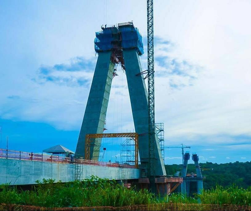 Obras da nova ponte entre Brasil e Paraguai já ultrapassam 50% de execução